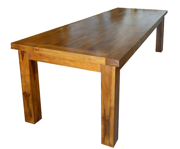 table rectangulaire en teck ancien 110x 300 cm sa 110. Black Bedroom Furniture Sets. Home Design Ideas